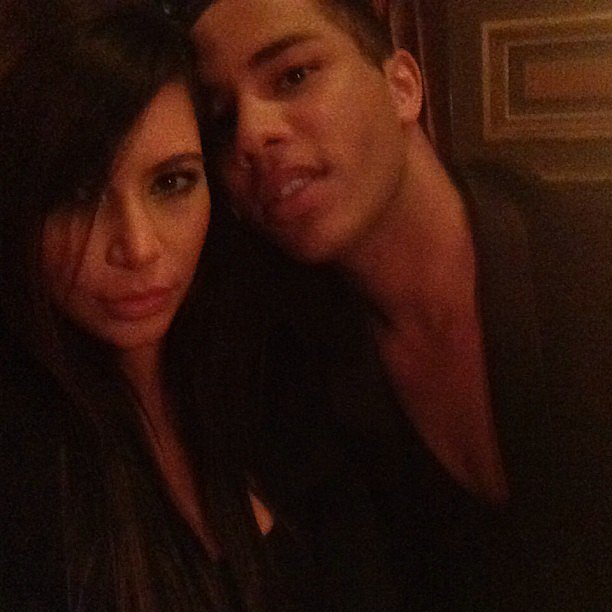 Kim Kardashian spent time with Balmain designer Olivier Rousteing during a trip to Paris. Source: Instagram user kimkardashian
