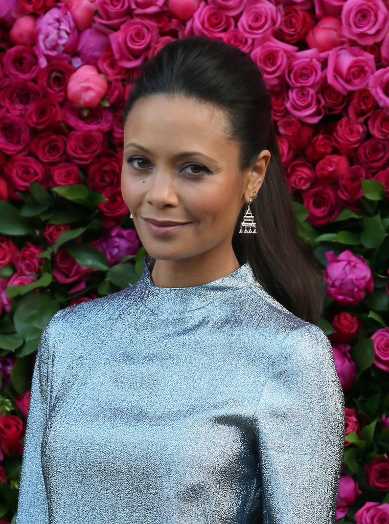 Spotted at a Jimmy Choo event, Thandie Newton wore her long hair half up on the sides. A soft makeup palette brought it all together for a look that was simply chic.