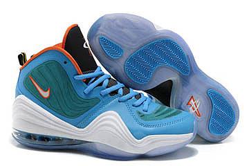 Nike Penny V(5) Basketball Shoes Blue/Green/White/Orange 77789