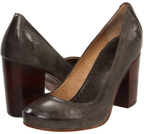 Frye - Carson Pump (Charcoal Antique Soft Full Grain) - Footwear