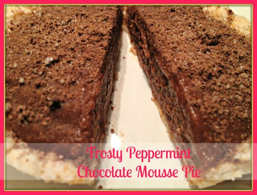 Frosty Peppermint Chocolate Mousse Pie