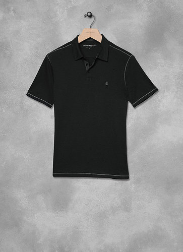 Peace Sign Stripe Polo
