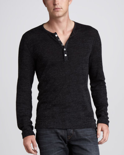 John Varvatos Star USA Thermal Henley