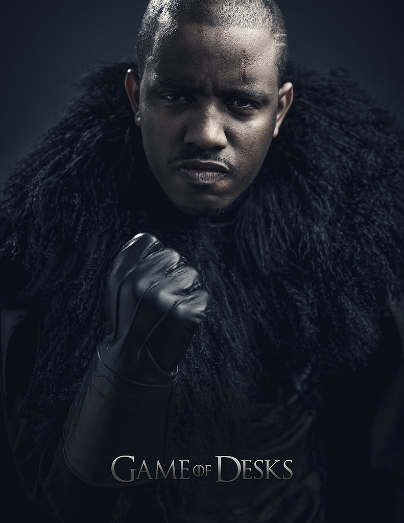 The Roots' Damon Bryson gets tough in his Night's Watch costume.