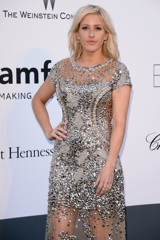 Ellie Goulding at the amfAR gala in Cannes.