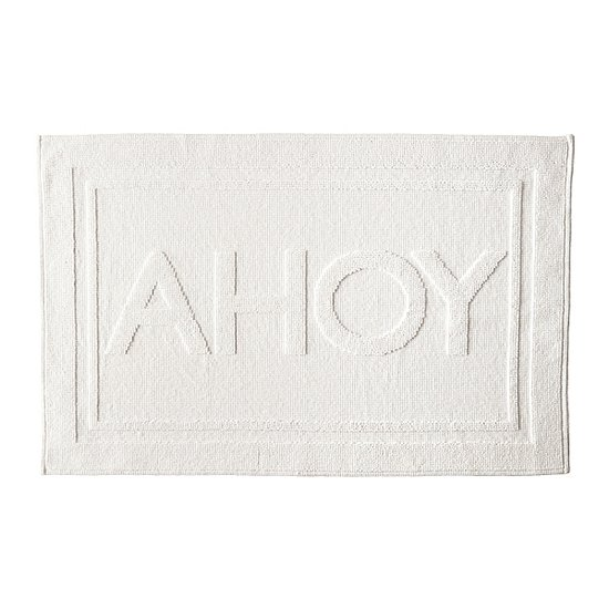 "Greet every day with an ""Ahoy!"" thanks to this cushy cotton bath mat ($48)."