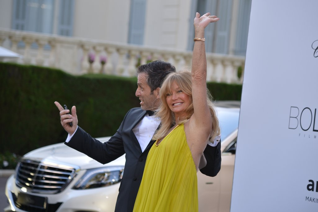 Goldie Hawn at the amfAR gala in Cannes.