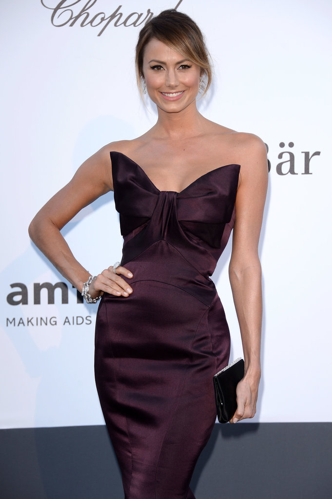 Stacy Keibler at the amfAR gala in Cannes.