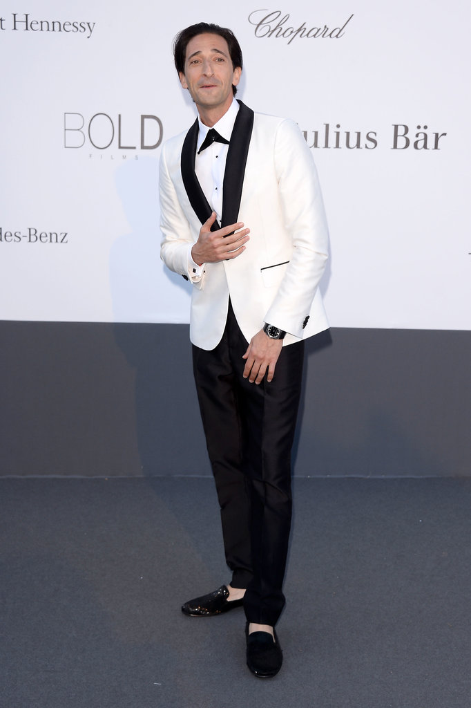 Adrian Brody at the amfAR gala in Cannes.