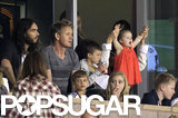 Victoria Beckham and her kids, including daughter Harper, shared their box seats with longtime friends the Ramsays and pal Russell Brand at an October 2012 matchup in LA.