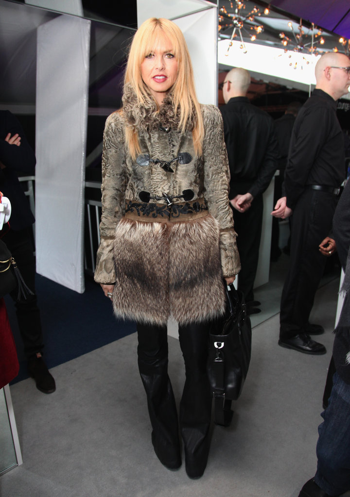 Nothing keeps you warmer than a knee-length fur coat. Team with simple black extras for maximum effect, like Rachel Zoe.