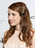 No matter your length, Emma Roberts showed us an easy way to add some interest to your hair: a bold hair pin holding back sideswept bangs.