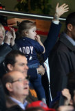 "Harper Beckham wore a ""Daddy"" jersey to David's final home game with PSG in May 2013."