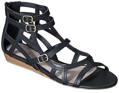 Women's MIA 2 Creda Tall Gladiator Wedge Sandal - Black