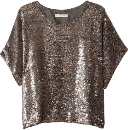 Zoe Jordan Charles sequined silk top