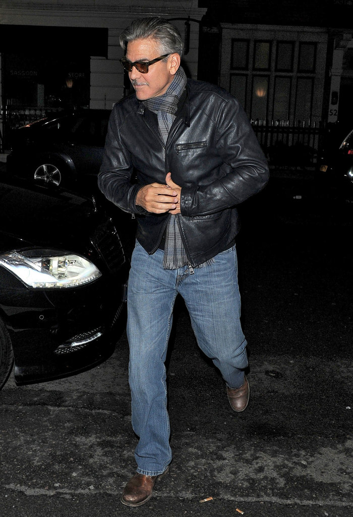 George Clooney Parties in London, While Stacy Keibler Hangs in Monaco