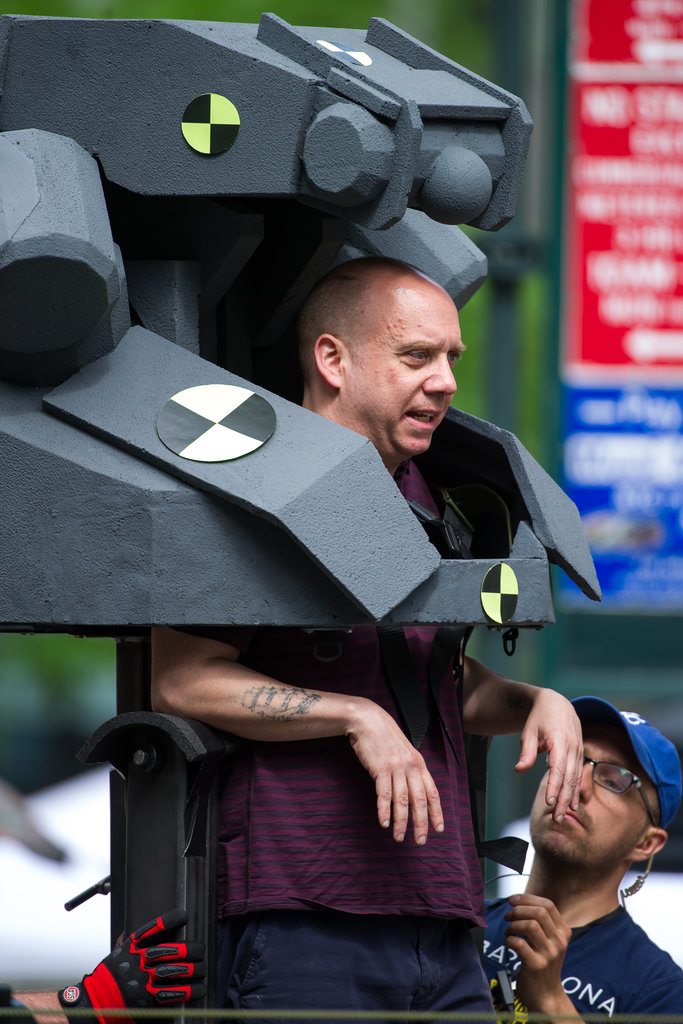 Paul Giamatti was on the set of The Amazing Spider-Man 2 in NYC on Sunday.