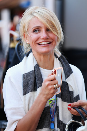 Cameron Diaz Snaps a Selfie Before Hopping on a Helicopter