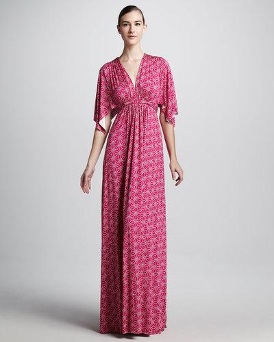 Rachel Pally Starflower-Print Long Caftan Dress, Women's
