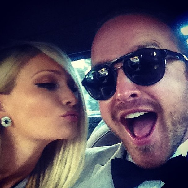 Aaron Paul couldn't contain his excitement ahead of his May wedding. Source: Instagram user glassofwhiskey