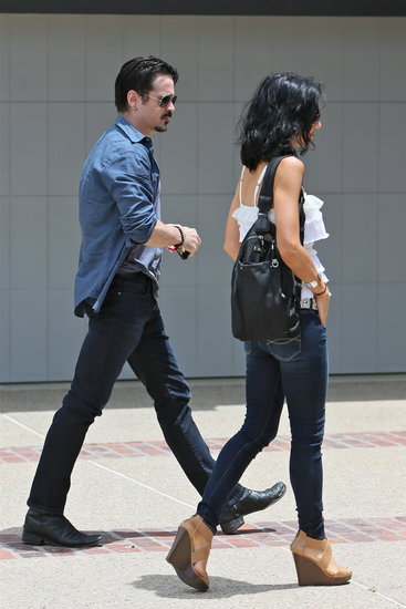 Colin Farrell arrived at Joel Silver's annual beach bash in Malibu on Monday.
