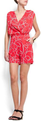 Reef knot print jumpsuit