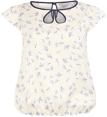 Petite bird print bubble top