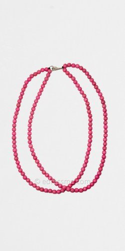 Pink Double Strand Necklace by Good Wood