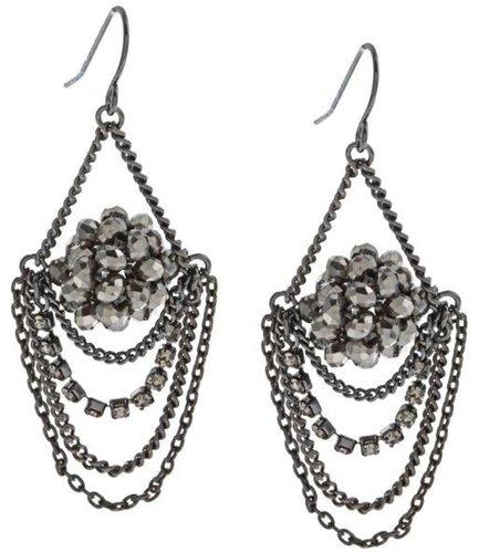 New! Kenneth Cole Silvertone Chandelier Earrings