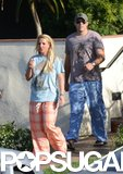 Britney Spears and David Lucado changed into comfy clothes during a day at the spa.