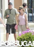 Britney Spears and David Lucado took a walk around downtown Palos Verdes on Memorial Day.