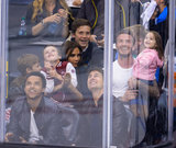 David Beckham, Victoria Beckham, and their kids took in the LA Kings game alongside Tom Cruise and his son, Connor, in LA.