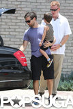 Tobey Maguire carried his son.
