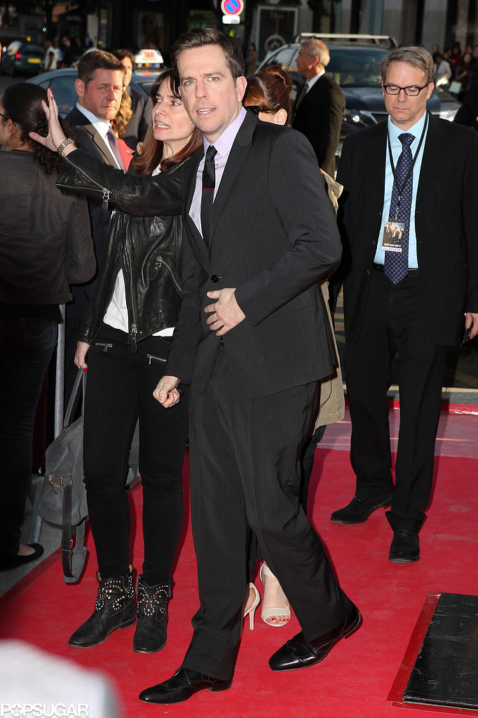 Ed Helms hit the red carpet in Paris for The Hangover Part III.