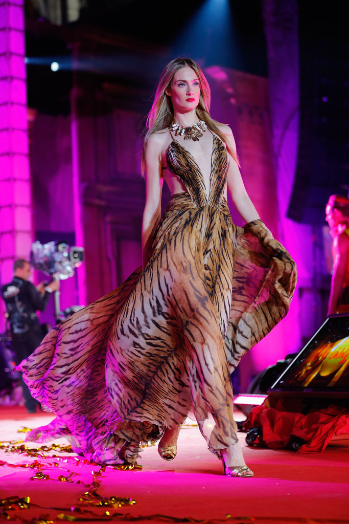Eva Riccobono wore Roberto Cavalli on the runway at the 2013 Life Ball in Vienna, Austria.