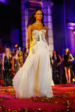 Sara Nuru on the runway at the 2013 Life Ball in Vienna, Austria.