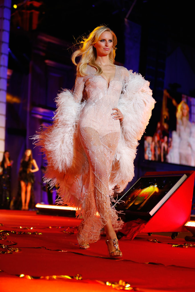 Karolina Kurkova wore Roberto Cavalli on the runway at the 2013 Life Ball in Vienna, Austria.