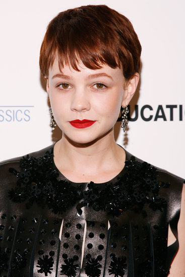 Donning a reddish-brown hair color, red lipstick, and a leather ensemble at the 2009 New York City premiere of An Education, Carey's look skewed more edgy than sweet.