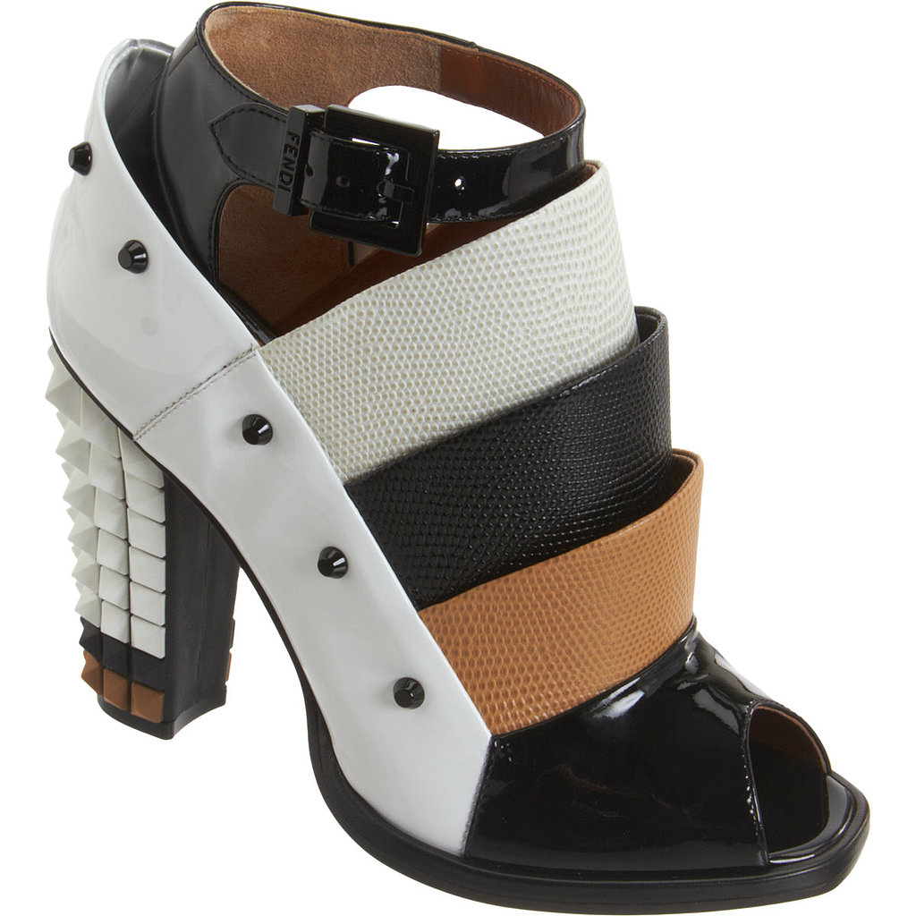 Armadillo-like scales and a 3D heel make this Fendi Polifornia ankle boot ($779, originally $1,295) an instant standout.