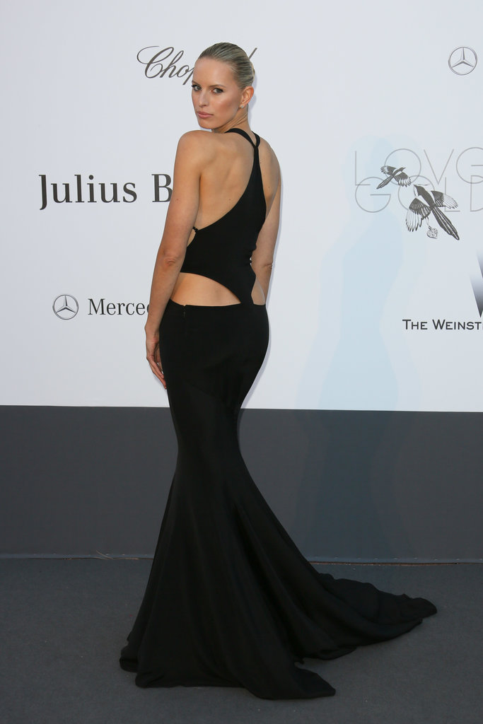 Karolina Kurkova's Roberto Cavalli gown stole the spotlight at amfAR's annual Cinema Against AIDS Gala with its bold cutout back.