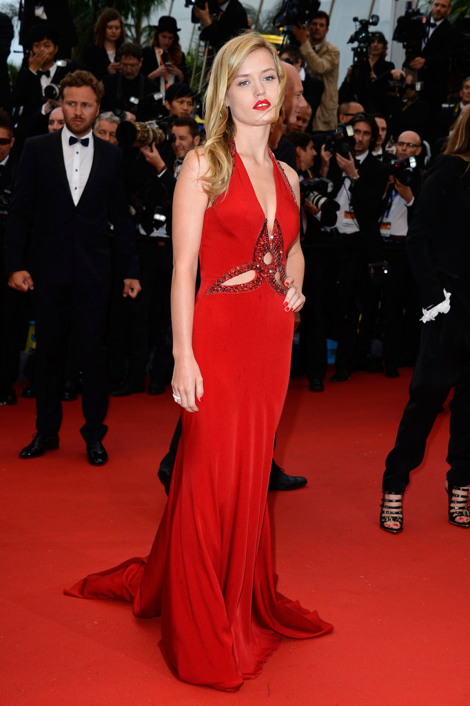 The sexiest accompaniment to Georgia May Jagger's red hot Roberto Cavalli gown? A sultry red lip, of course.