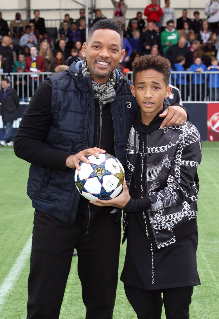 Will Smith and Jaden Smith kicked off the UEFA Champions Festival in London together on Saturday.
