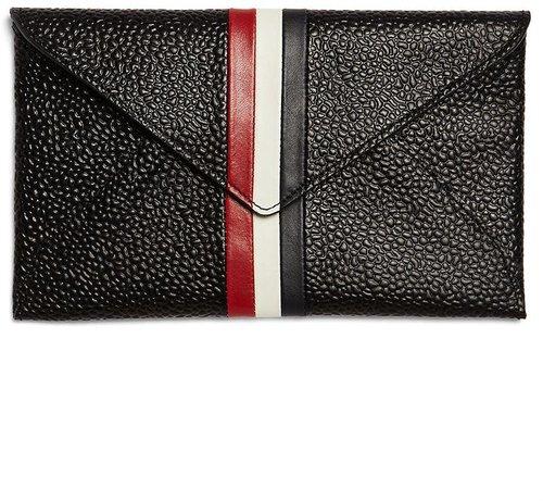 Pebble Leather Envelope Passport Case