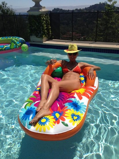 Heidi Klum slipped into a bikini to celebrate Mother's Day in the water this year. Source: Twitter user heidiklum