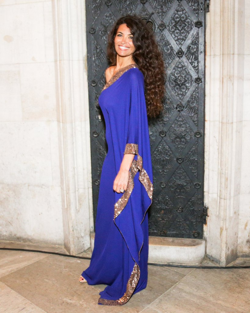 Afef Jnifen wore Roberto Cavalli at the 2013 Life Ball in Vienna, Austria. Source: Benjamin Lozovsky/BFAnyc.com