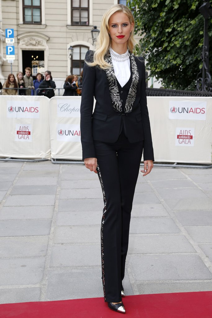 Karolina Kurkova wore Roberto Cavalli at the 2013 Life Ball in Vienna, Austria. Photo courtesy of Roberto Cavalli