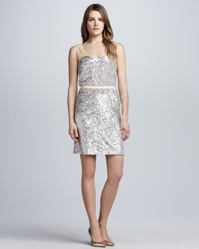 Erin by Erin Fetherston Sequined Sheer-Strap Dress