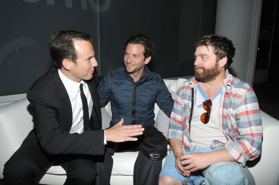 Bradley Cooper and his Hangover buddy Zach Galifianakis partied with Bradley's former costar Will Arnett in NYC in 2010.  Bradley shared the screen with Will in 2008's The Rocker and 2007's The Comebacks.