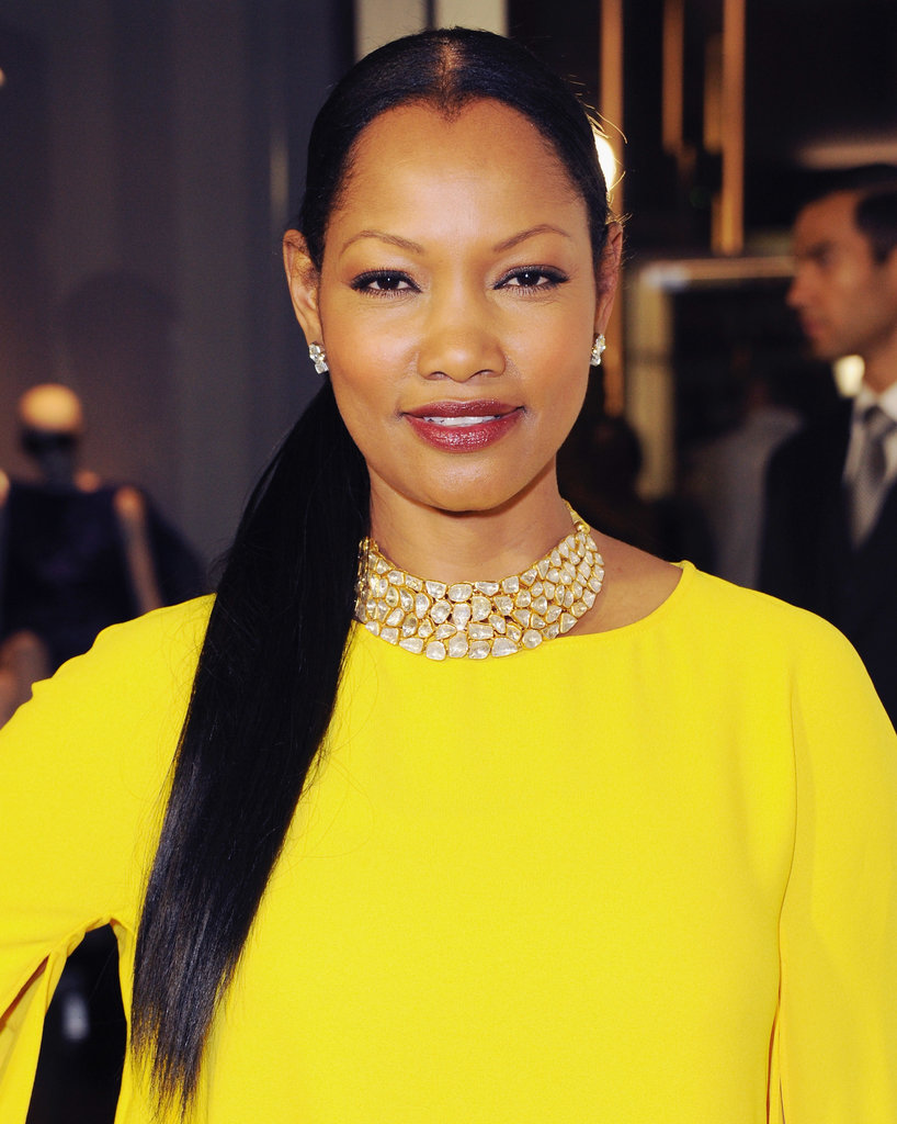 If you go with an extralong look, why not throw your pony over one shoulder, like Garcelle Beauvais did at a Tom Ford event.