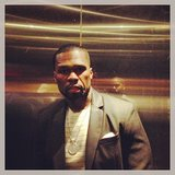 50 Cent rode in an elevator on the way to see After Earth. Source: Instagram user 50cent